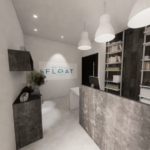 Interior image of float studio